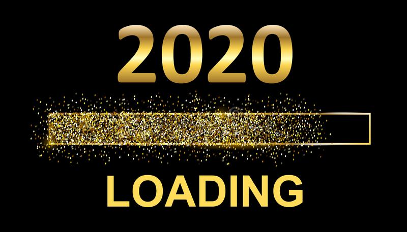 Gold Blaster Load Bar 2020. Expectation of the holiday – stock. Gold Blaster Load Bar 2020. Expectation of the holiday vector illustration