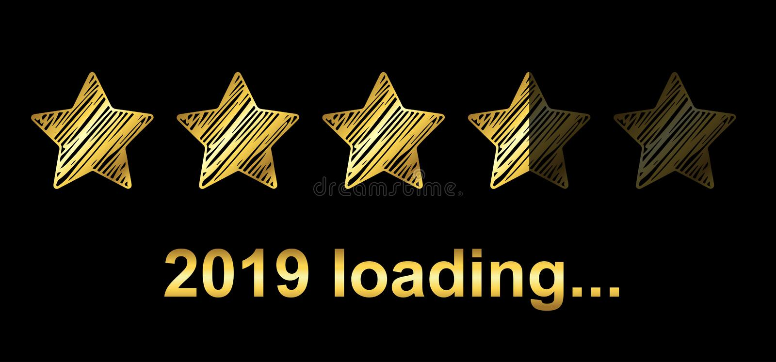 Gold Blaster Load Bar 2019. Expectation of the holiday - vector. Gold Blaster Load Bar 2019. Expectation of the holiday – stock vector royalty free illustration