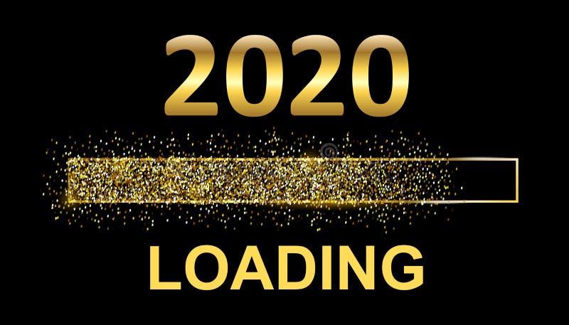Gold Blaster Load Bar 2020 Oczekiwanie na święto - akcje ilustracja wektor