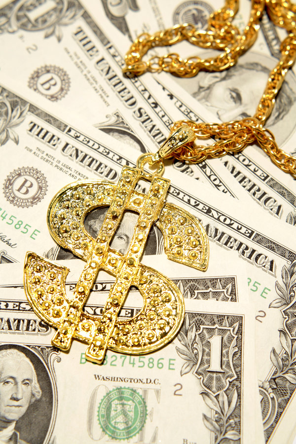 Download Gold bling on money stock image. Image of wealth, legal - 6484337