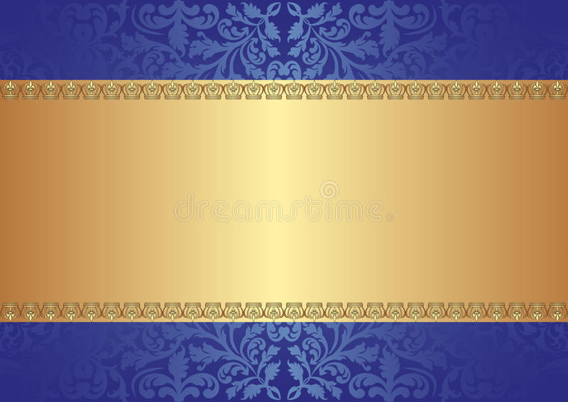 Gold blue background vector illustration