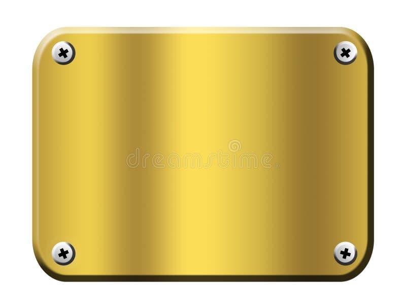 Gold board royalty free illustration
