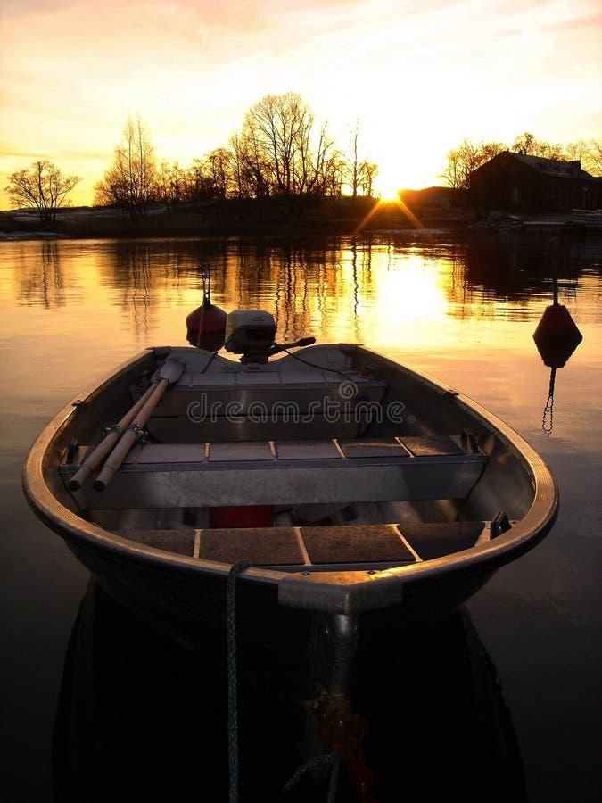 Gold Boat royalty free stock photos