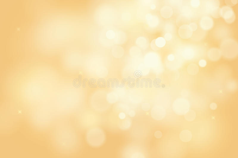 Gold bokeh background for christmas and greeting card vector illustration