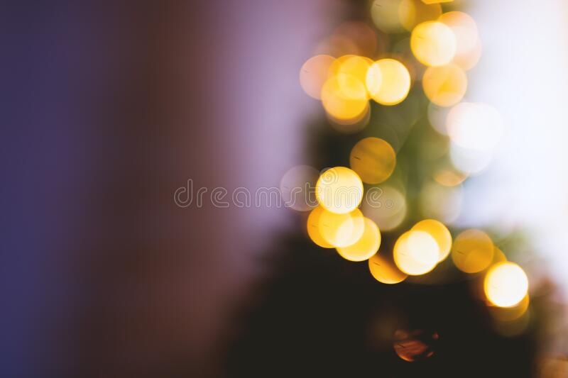 Gold-bokeh Lichter stockfotos