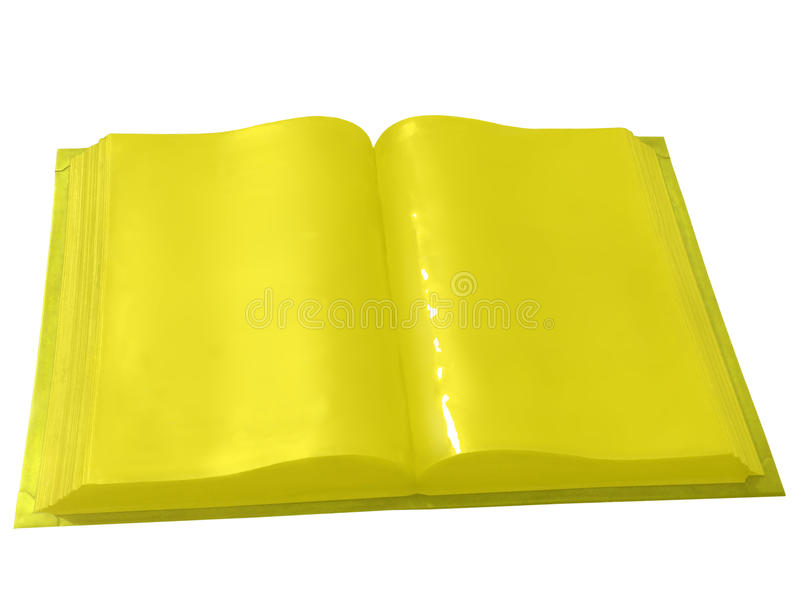Gold book, isolated on white.