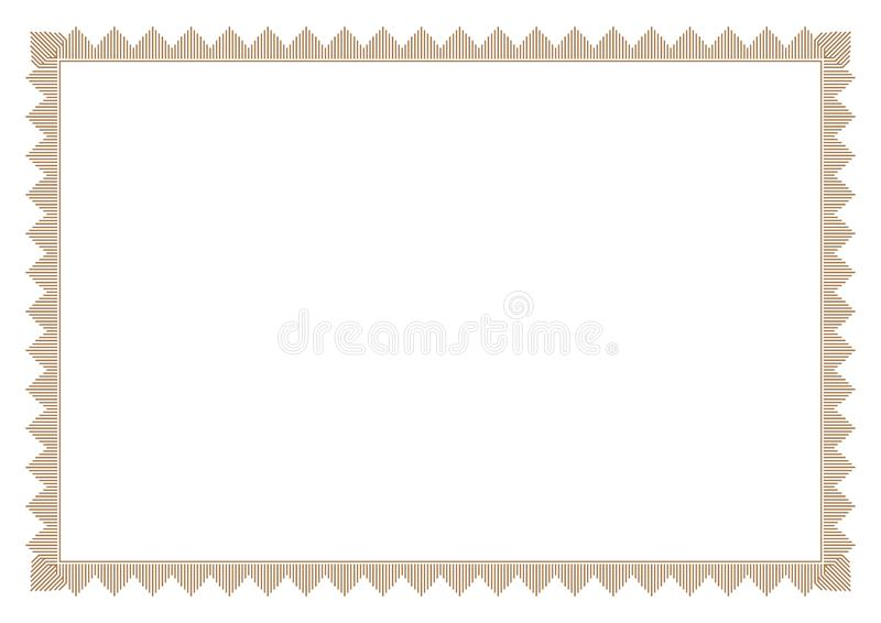 Gold border in bar line style stock images