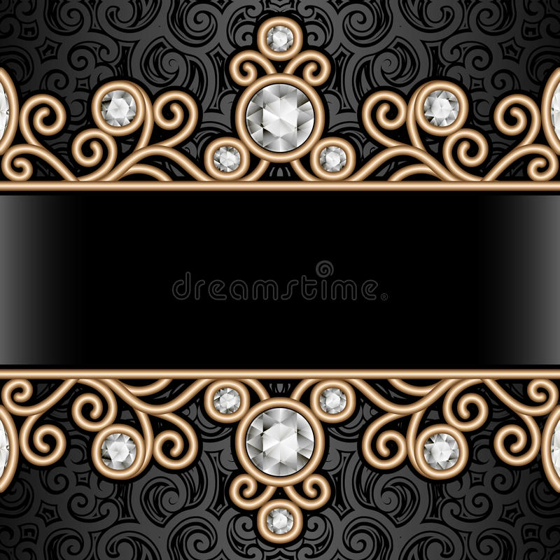 Free Gold Border Frame On Pattern Royalty Free Stock Images - 53043719