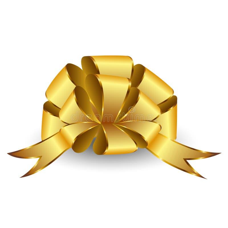 Gold bow. stock illustration