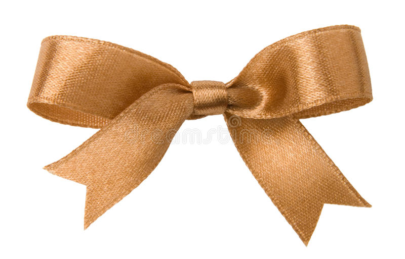 Download Gold bow stock photo. Image of decoration, holiday, isolated - 12837728