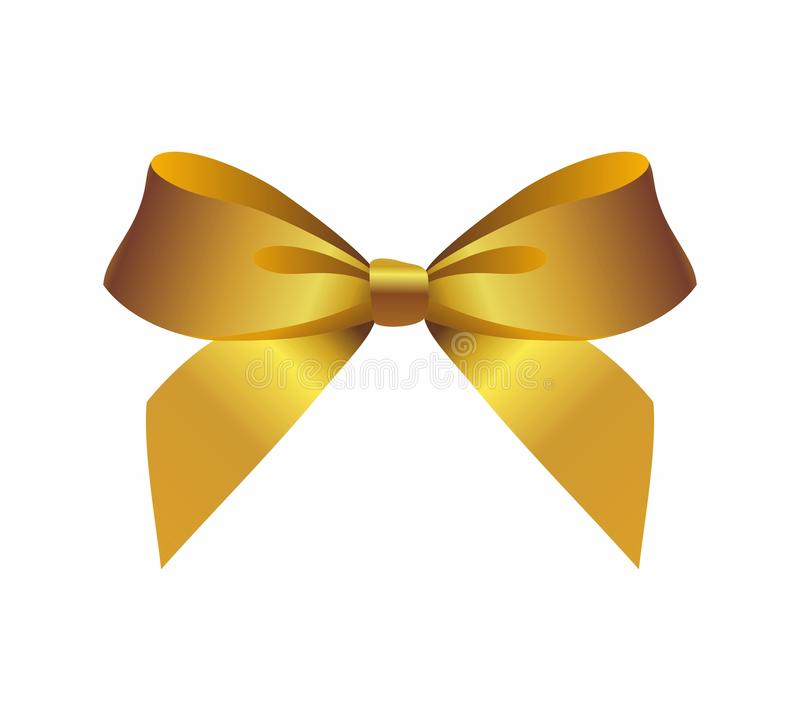 Gold bow. On a white background vector illustration