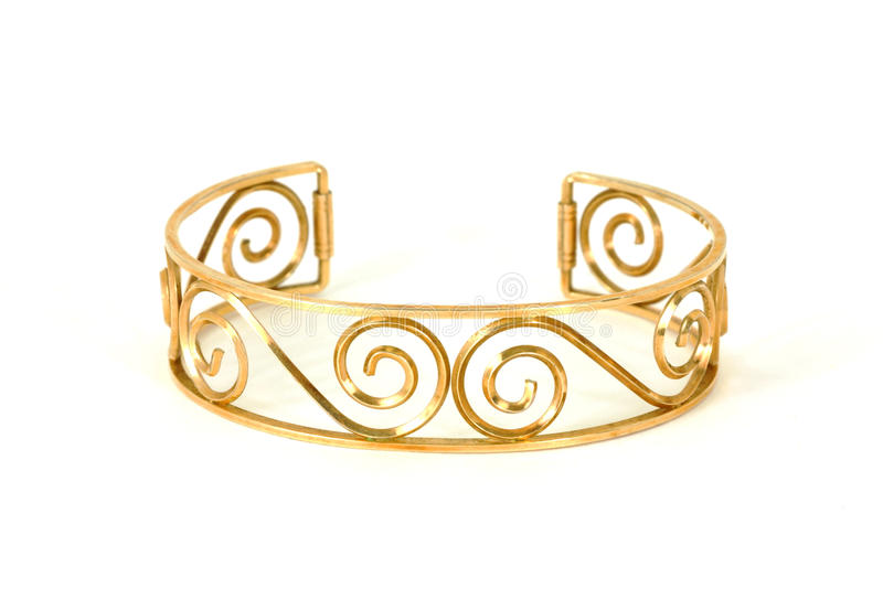 Gold bracelet. A close view of a vintage gold plated bracelet stock photography