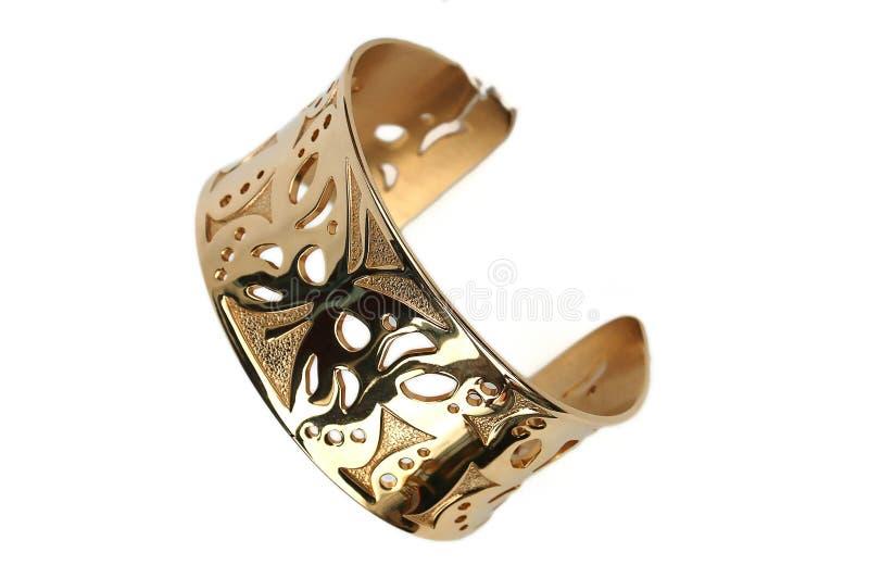 Gold bracelet stock image