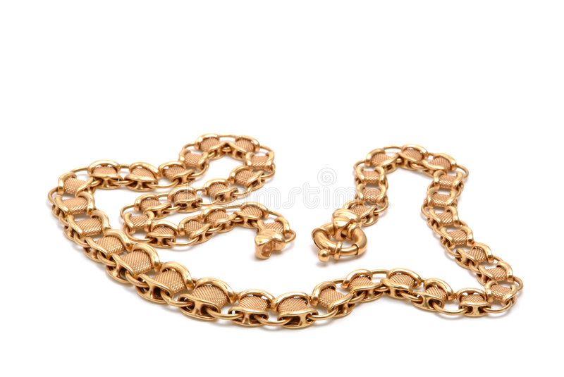 Gold bracelet royalty free stock photos