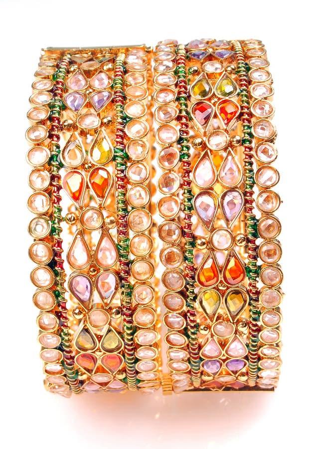 Gold Bracelets royalty free stock photo