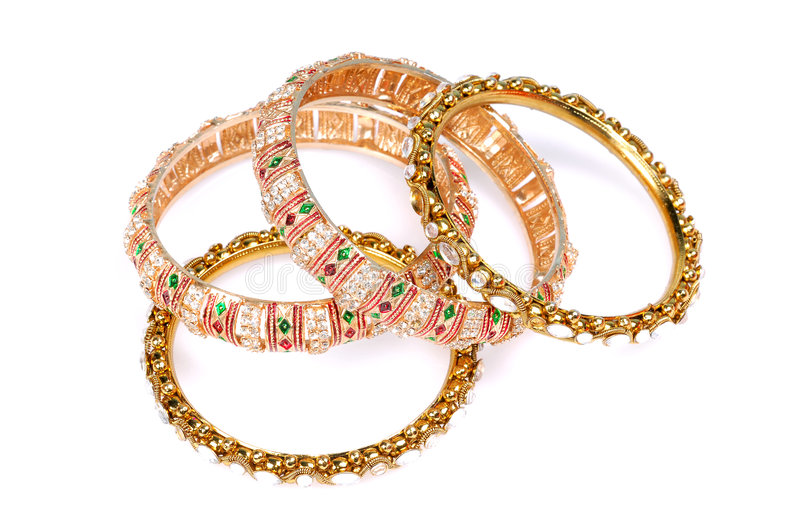 Download Gold bracelets stock photo. Image of gift, jewellery, model - 8372428