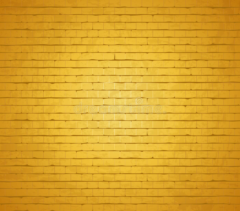 Gold Brick Wall. Stock Photography
