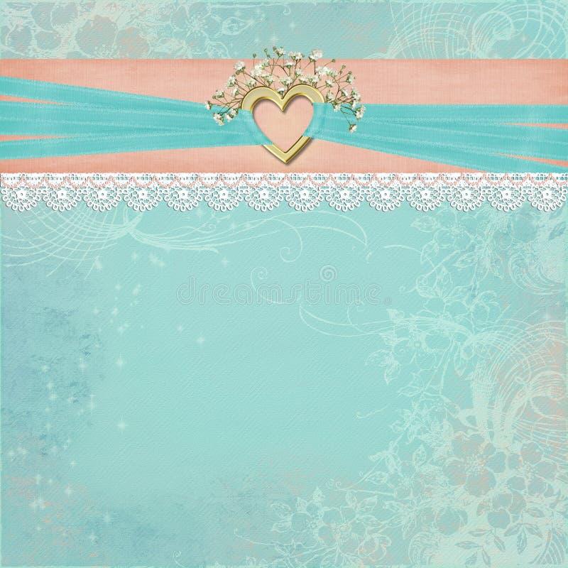 Gold Bridal Heart vector illustration