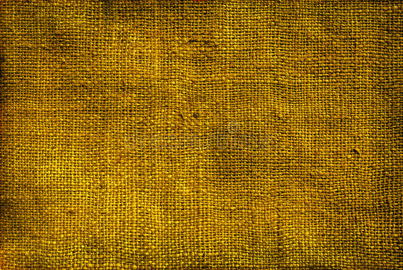 Gold, bronze burlap texture background stock photo