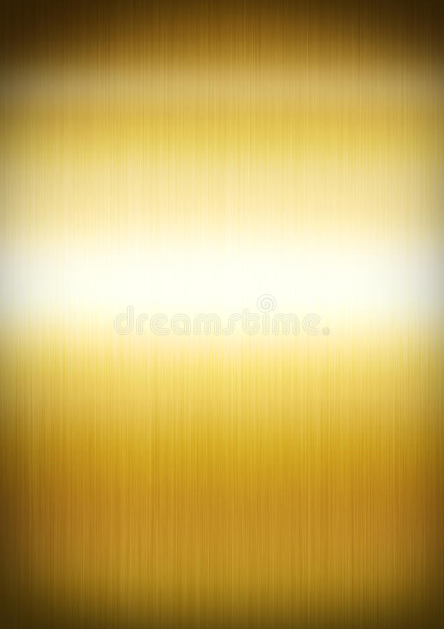 Gold brushed metal background texture vector illustration