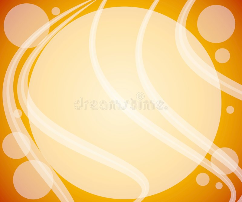 Gold Bubbles Swirls Background