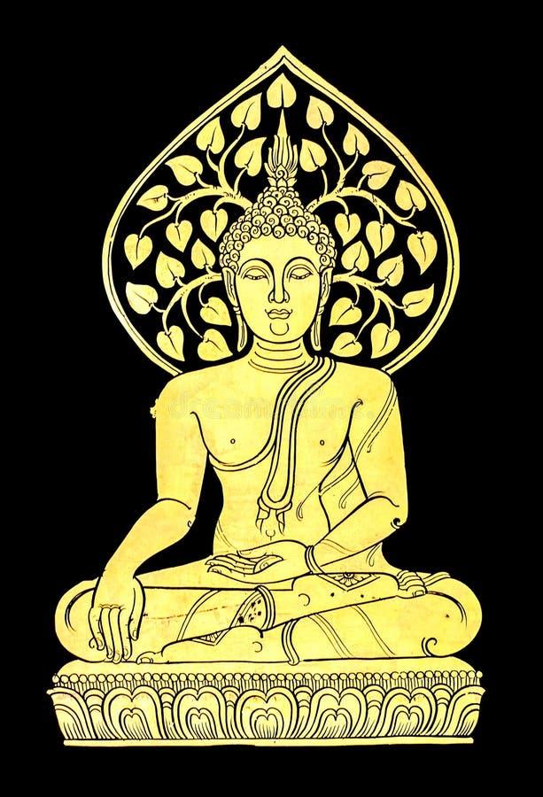 Gold buddha vector illustration