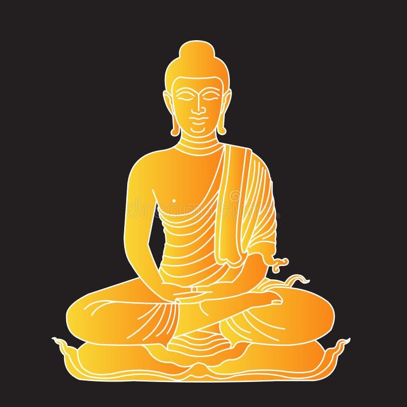 Gold buddha royalty free illustration