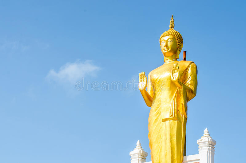 Gold Buddha Statue royalty free stock photography