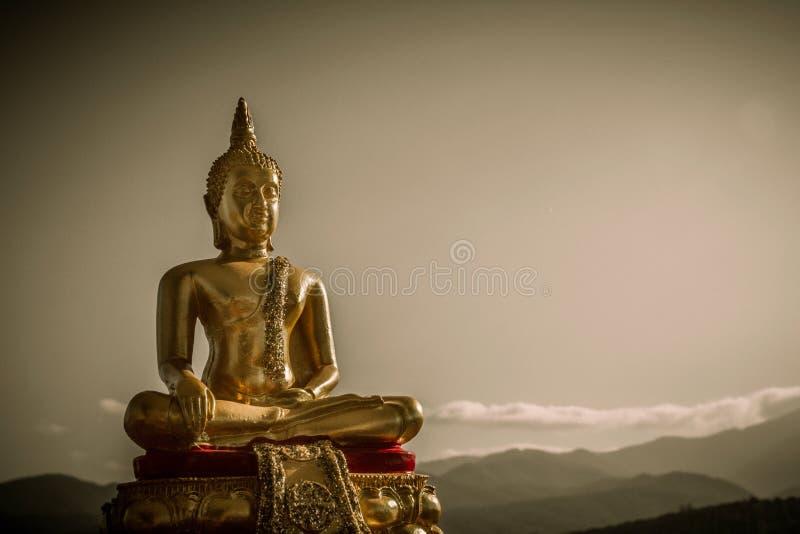 Gold Buddha Statue royalty free stock photo