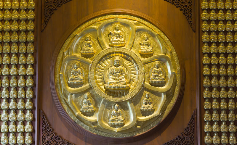 Download Gold Buddha On The Wall Royalty Free Stock Photo - Image: 25304725