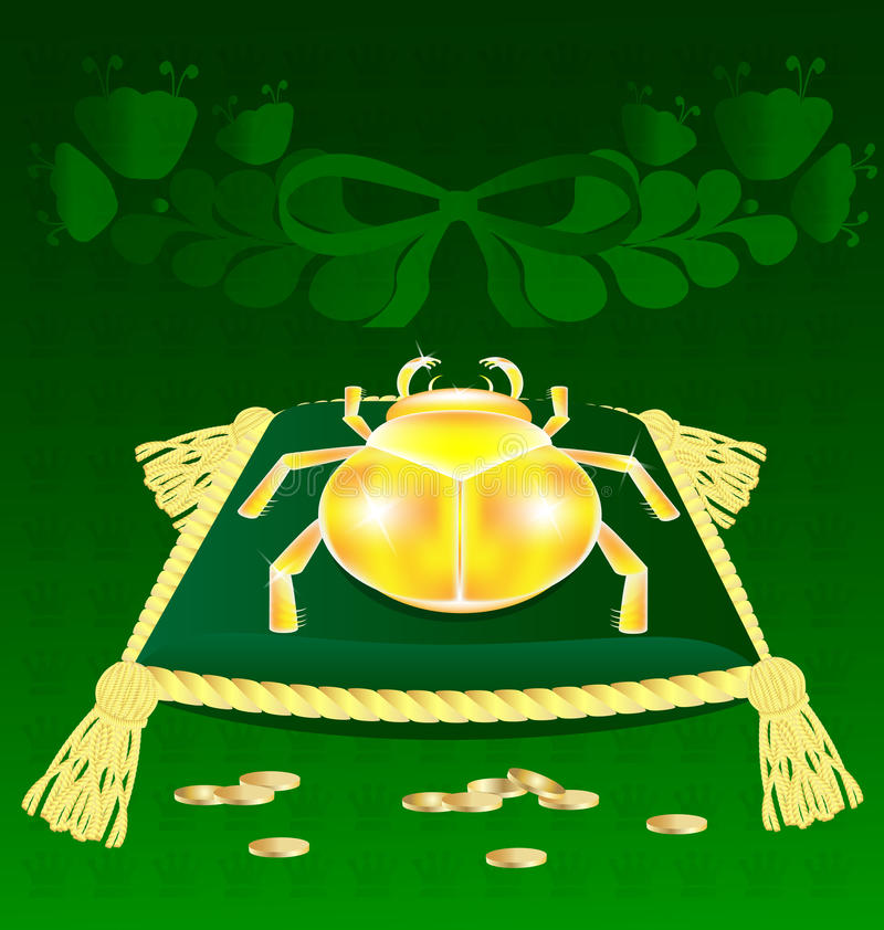 Download Gold-bug on the pillow stock vector. Image of beetle - 19730869