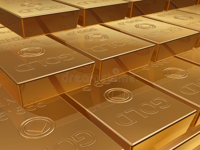 Download Gold bullion stock illustration. Image of pure, trade - 22676600