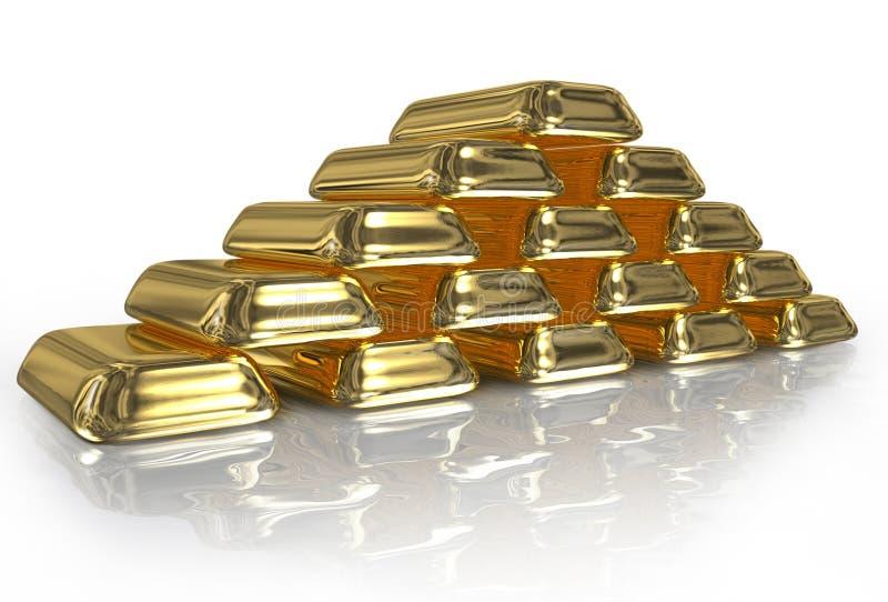 Gold bullion vector illustration