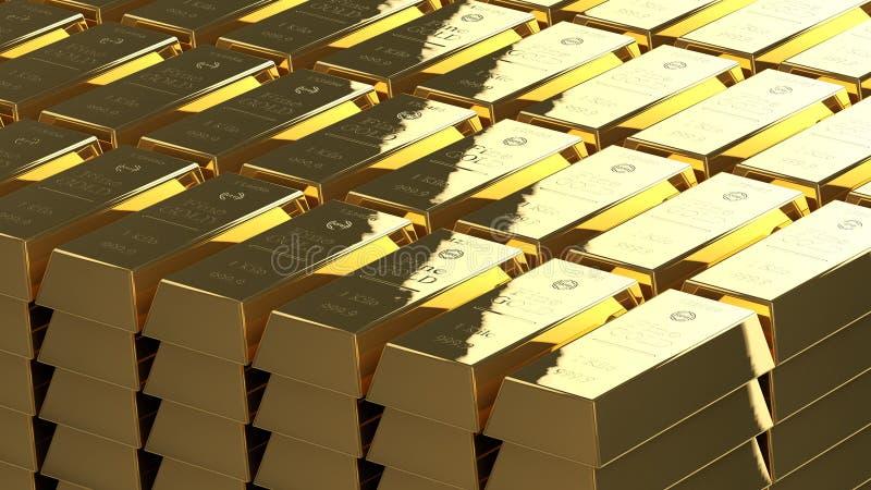 Gold bullion ordered stock illustration