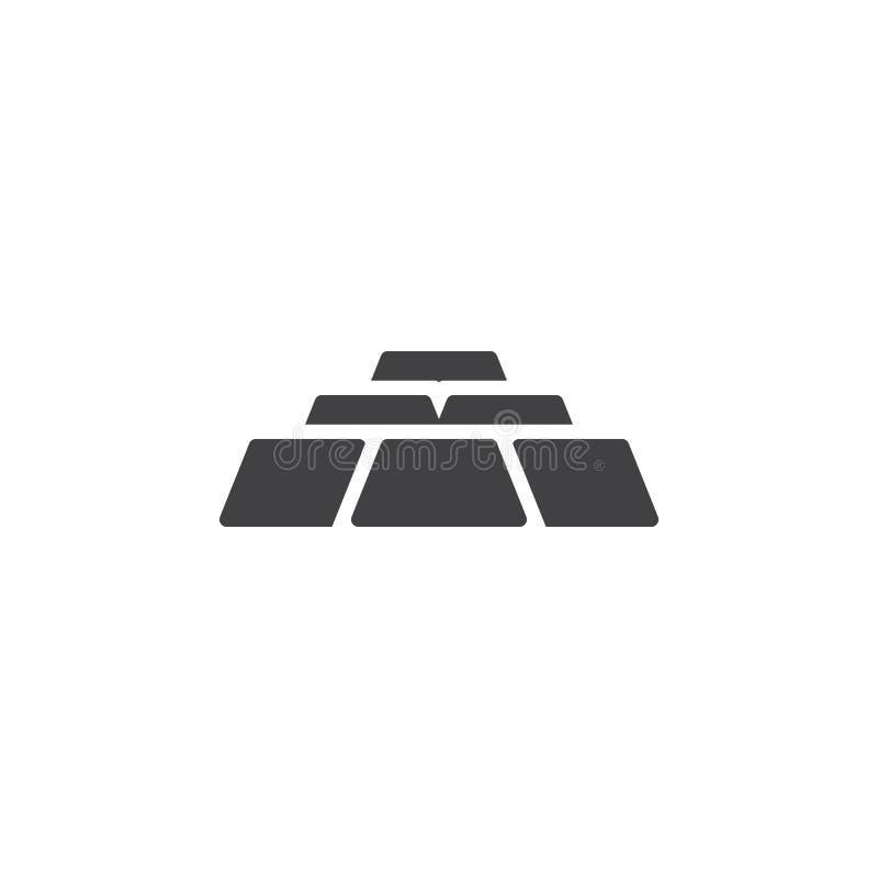 Gold bullion vector icon. Filled flat sign for mobile concept and web design. Gold bar ingot glyph icon. Symbol, logo illustration. Pixel perfect vector stock illustration