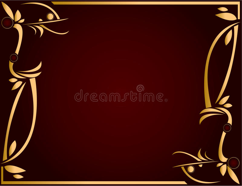Gold and Burgundy background 5 royalty free illustration