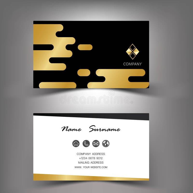 Gold business card template design. Gold business card template design EPS10 vector illustration