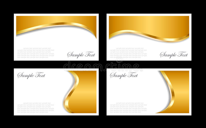 Gold business cards templates royalty free illustration