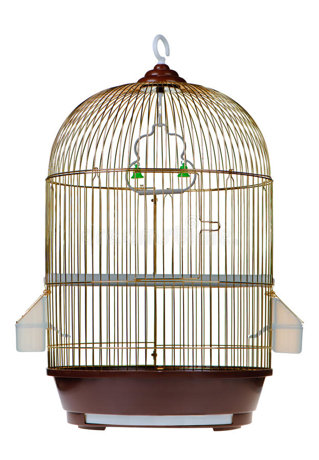 Download Gold cage stock image. Image of isolated, jail, empty - 17749905