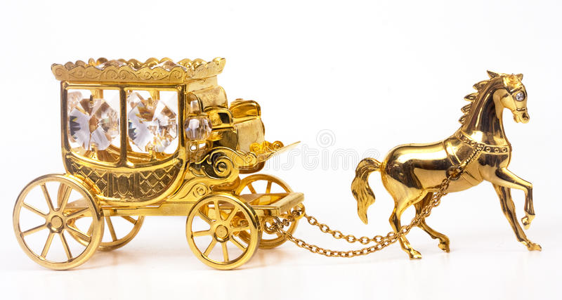 Gold carriage stock image of decor