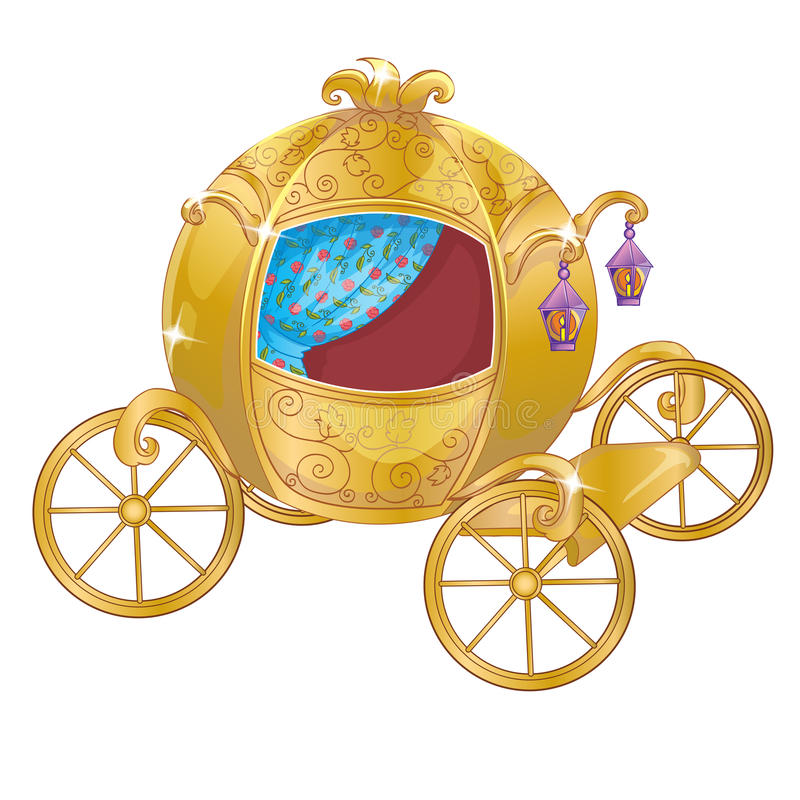 Gold Carriage For Cinderella royalty free illustration