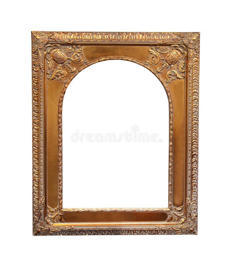 Grunge gold frame stock photo