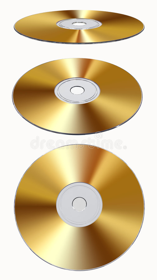 Download Gold CD-rom Isolated stock illustration. Image of background - 7410471