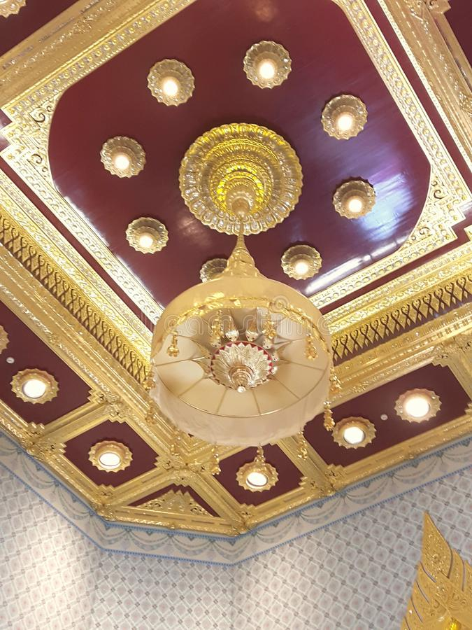 Gold Ceiling stock photo