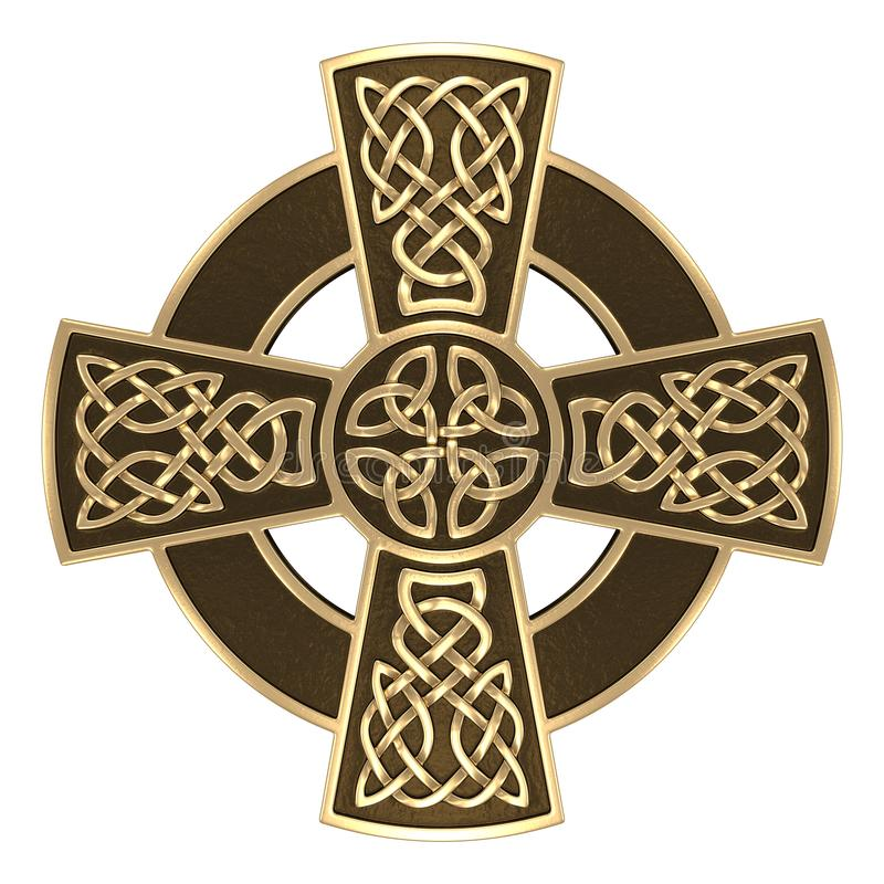 Gold Celtic cross royalty free stock images