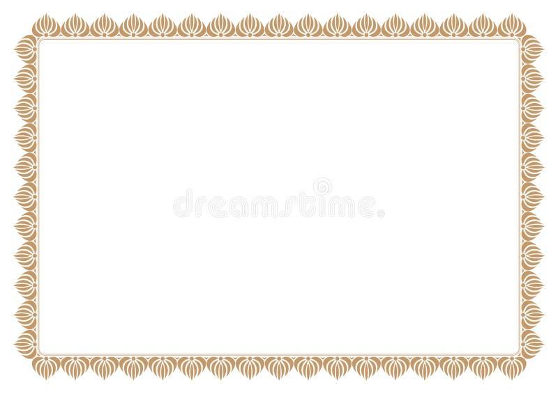 Gold Certificate of Appreciation Border royalty free illustration