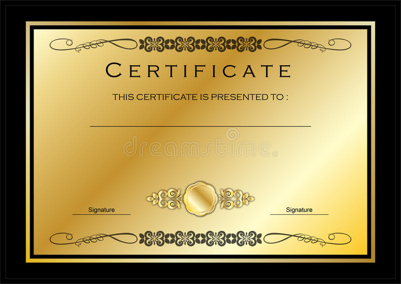 Gold Medal Certificate Template Mandegarfo