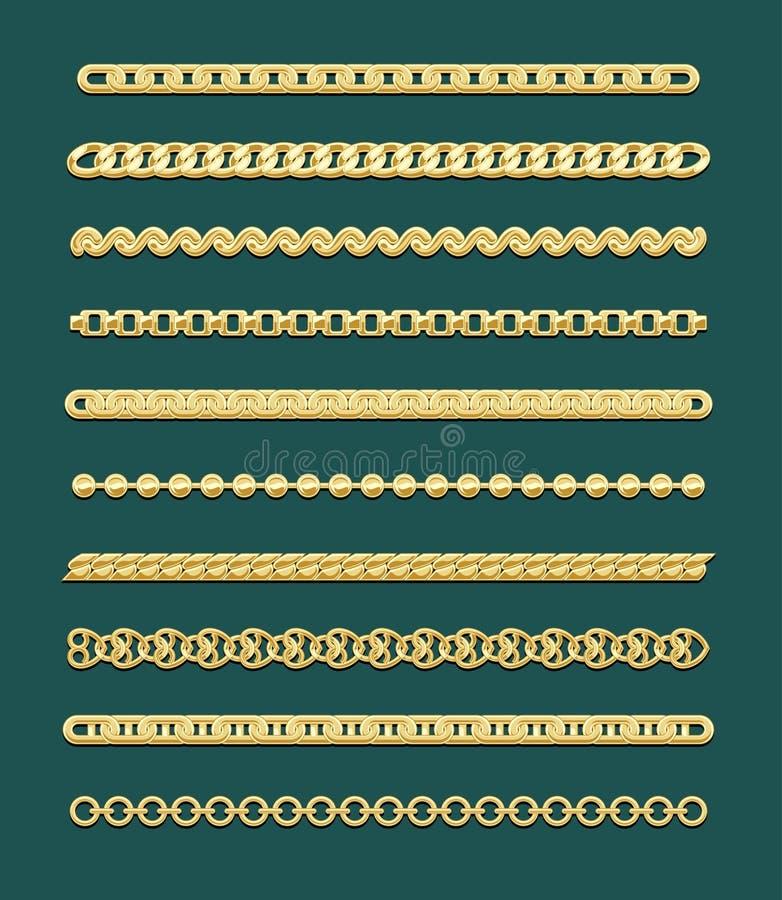Gold Chain Designs stock photo