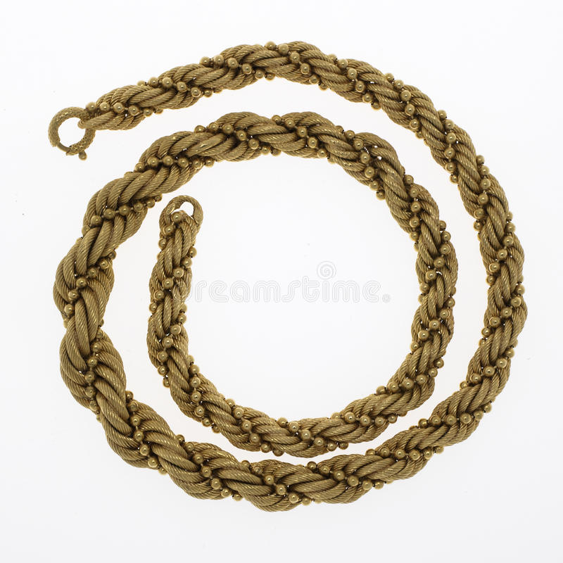 Gold Chain Necklace royalty free stock image
