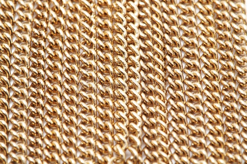 Gold Chain Necklace stock photography